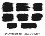 brush strokes set. paintbrush... | Shutterstock .eps vector #261394394