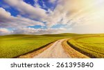 Beautiful Landscape With Road ...
