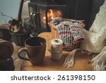 comfortable knit front of the... | Shutterstock . vector #261398150