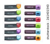 web elements vector button set  | Shutterstock .eps vector #261401540