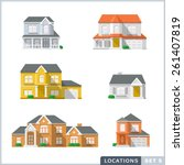 house icon set 1  private...   Shutterstock .eps vector #261407819