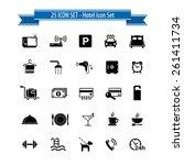 hotel icon set   25 hotel... | Shutterstock .eps vector #261411734