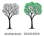 vector illustration of an ash... | Shutterstock .eps vector #261414314