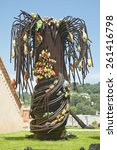 Small photo of Blown glass Palm Tree, Biot, France
