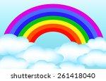 rainbow | Shutterstock .eps vector #261418040
