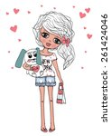 fashion girl | Shutterstock .eps vector #261424046
