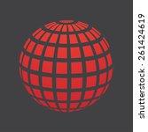 halftone globe design  stock... | Shutterstock .eps vector #261424619