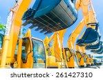 asian vehicle fleet with... | Shutterstock . vector #261427310