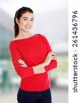 portrait of beautiful young... | Shutterstock . vector #261436796