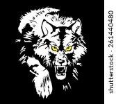 grinning wolf. vector... | Shutterstock .eps vector #261440480