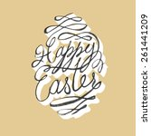 happy easter card | Shutterstock . vector #261441209