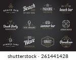 set of vector beach sea bar...   Shutterstock .eps vector #261441428