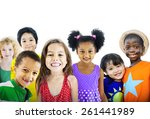 children kids happines... | Shutterstock . vector #261441989
