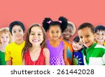 diversity children friendship... | Shutterstock . vector #261442028