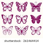 set of butterflies | Shutterstock .eps vector #261464414