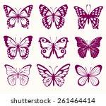 set of butterflies | Shutterstock .eps vector #261464414