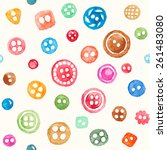 vector seamless pattern with... | Shutterstock .eps vector #261483080
