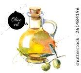 olive bottle vector... | Shutterstock .eps vector #261484196
