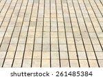 cobbles in perspective | Shutterstock . vector #261485384