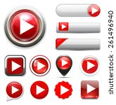 play button   | Shutterstock .eps vector #261496940