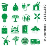 go green icons set | Shutterstock .eps vector #261511850