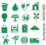 go green icons set | Shutterstock .eps vector #261511850