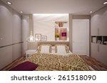 interior bedroom in modern... | Shutterstock . vector #261518090