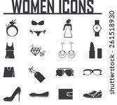 women's accessories icon set | Shutterstock .eps vector #261518930