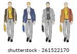 sketch. handsome stylish man... | Shutterstock .eps vector #261522170