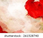 stain red paint over background.... | Shutterstock . vector #261528740