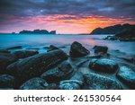 phi phi island sunset | Shutterstock . vector #261530564