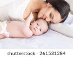 happy family. mother and baby | Shutterstock . vector #261531284
