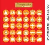 transport icons transportation... | Shutterstock .eps vector #261532700