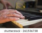 closeup of female musician hand ... | Shutterstock . vector #261536738
