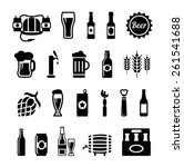 set of beer icons   Shutterstock .eps vector #261541688