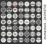 premium  quality retro vintage... | Shutterstock .eps vector #261543710