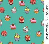 cupcake color set | Shutterstock .eps vector #261562844