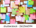 image of colorful sticky notes... | Shutterstock . vector #261566594