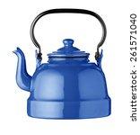 blue kettle isolated | Shutterstock . vector #261571040