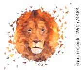 Low Poly Design. Lion...
