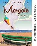 Margate Beach Travel Poster.