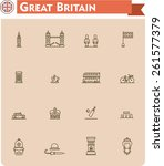 simple linear vector icon set... | Shutterstock .eps vector #261577379