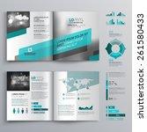 gray brochure template design...   Shutterstock .eps vector #261580433