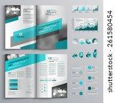 gray brochure template design... | Shutterstock .eps vector #261580454