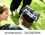 graduation  student with funny... | Shutterstock . vector #261582044