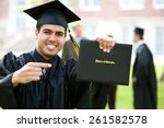 graduation  hispanic student... | Shutterstock . vector #261582578