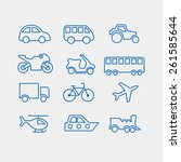 vector icon of transport | Shutterstock .eps vector #261585644