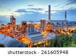 glow light of petrochemical... | Shutterstock . vector #261605948