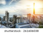 glow light of petrochemical... | Shutterstock . vector #261606038
