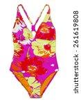 one piece swimsuit   Shutterstock . vector #261619808